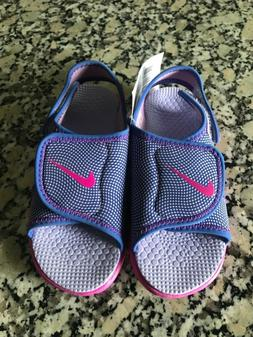 NEW! Nike Girl's Adjust 4 Sandals  Size 10C Pink 386521 504
