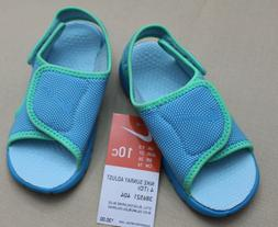 New Infant/Toddler Blue/green Nike Sunray Adjust 4 athletic