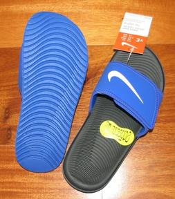 New Nike Kawa Adjustable Boys Slide Sandals 11 12 13 1 2 3 4