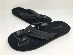 New! Men's Dickies 119841 Flip-Flops Black/Gray B43