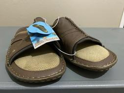 New Men's Margaritaville Brown Leather St. Martin Slides San
