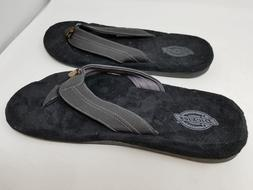 NEW! Dickies Mens Black Flip Flop 419K pa