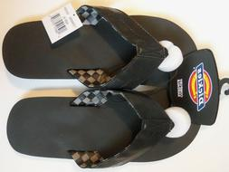 New - Dickies Mens Flip Flop Thong Sandals Black Gray - Size