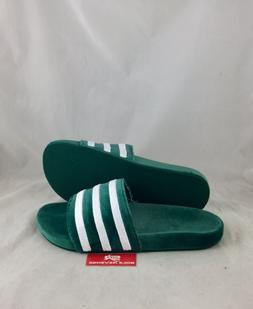 New Mens adidas Originals VELVET ADILETTE Green White BY9907