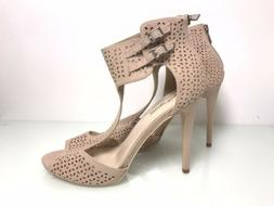 NEW NUDE WOMENS 5 INCH SANDALS SIZE 10