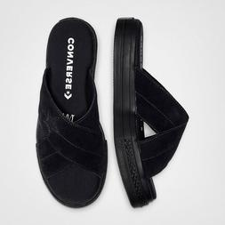 NEW Size 8 Converse Women's ONE STAR SANDALISM Slide Black 5