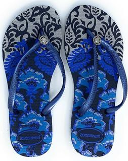 55ac4918c4cd Havaianas New Slim Flip Flops Womens Sandals Royal Blue Choo