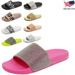 New Women&Kids Glitter Slid Slip On Flip Flops Comfort Flat