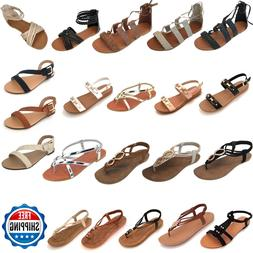 New Women Gladiator Sandals Shoes Thong Flip Flops Flat T St