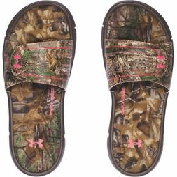 NEW WOMEN'S Under Armour 1287328  Ignite RT Camo VI SL Slide
