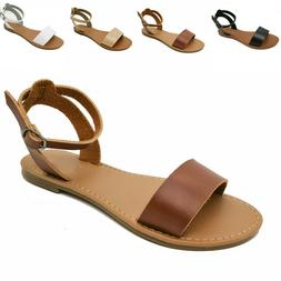 NEW Women's Gladiator Sandals  Flip Flops Casual Ankle Strap