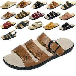 New Women Sandals Shoes Gladiator Slip On Fashion Slide Shoe