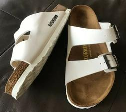 New Birkenstock Women's Size 36R/5 White Arizona Birko-Flo