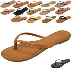 NEW Womens Summer Comfort Casual Thong Flat Flip Flops Sanda