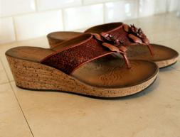 NEW WOMENS CLARKS WEDGE SANDALS SIZE 10