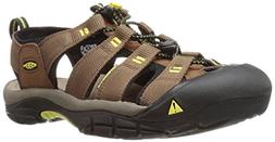 KEEN Men's Newport h2 Sandal, Dark Earth/Acacia, 11.5 M US