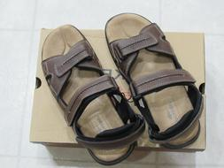 NW/OB Dockers Mens NewPage Driar Sandals-Color-Brown-Size-12