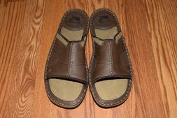 NWT Mens MARGARITAVILLE Brown St. Martin Leather Slides Sand