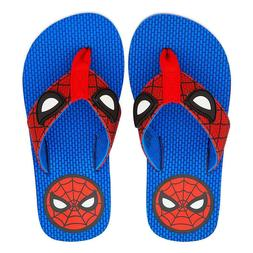 NWT Disney store Boy Spiderman Flip Flops Sandals Shoes Aven