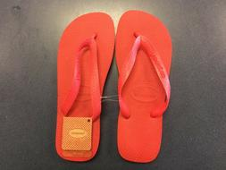 NWT Womens HAVAIANAS Top Sandals Ruby Red Thong Flip Flops 8