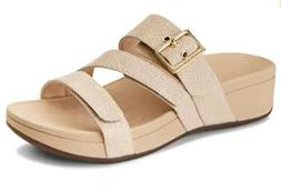 orthaheel pacific rio strappy slide sandals nude