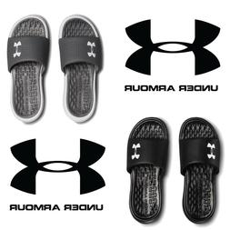 Under Armour Playmaker Fix Slide  Two Color Black/Gray Free