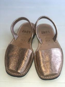 PONS Wome's Rose Gold Sandals