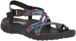 Skechers Women's Reggae-Loopy Sandal,blue/pink,5.5 M US