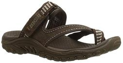 Skechers Women's Reggae-Rasta Thong Sandal,Chocolate,5 M US