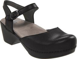 Dansko Sam Clog - Women's Black Soft Full Grain, 43.0