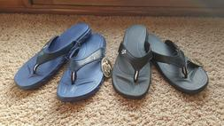 Pali Hawaii Sandal Kona Thong PH-0114 Black or Blue - Size 6