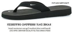 SHIPS TODAY! NEW ORIGINAL NIKE CELSO THONG BLACK FLIP FLOP S
