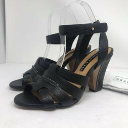 Veronica Beard Size 38 Charley Sandal Black Leather Strappy