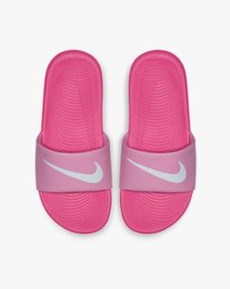 Nike Slides Girls 7Y Pink with White Authentic Kawa Big Kids