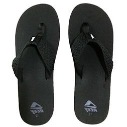 Reef Smoothy Flip Flop - Men's Black, 10.0