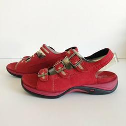 190d7b472cd Clarks Springers Womens Sandals Size 7 M Red Leather Strappy