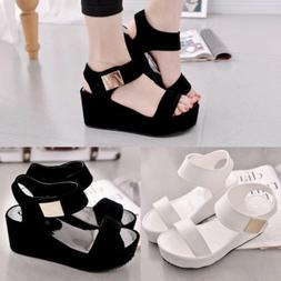 Summer Women's Wedge Sandals Peep Toe  Platform Casual Sanda