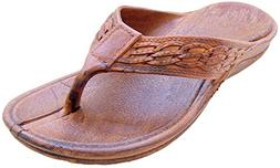 Pali Hawaii Surfer Brown Rubber Sandals 11