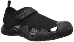 Crocs Men's Swiftwater Sandal M Flat, black/black, 9 M US