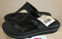 Skechers Thong Flip Flop Sandals Womens Size 7 NEW Black
