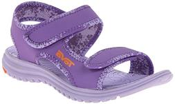 Teva Tidepool Kids Sport Sandal , Purple/Orange, 4 M US Big