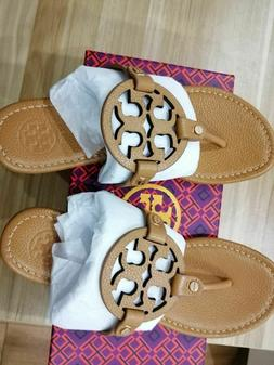 tory burch miller sandals royal tan lichee leather size 7 bo