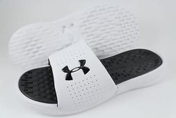 UNDER ARMOUR UA PLAYMAKER FIXED SLIDE WHITE/BLACK SPORT SAND