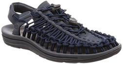 KEEN Men's Uneek Sandal, Dark Slate/Blue Nights, 13 M US