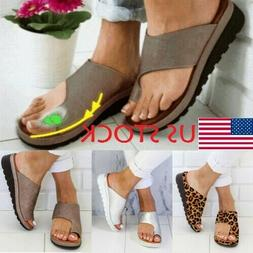 US STOCK Women Comfy Platform Sandal Ladies Shoes -PU LEATHE