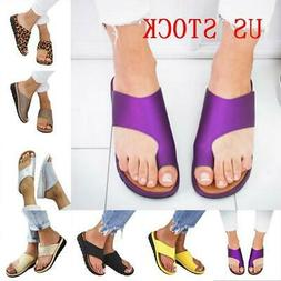 US STOCK Women Comfy  Sandal Ladies Shoes -PU LEATHER- Bunio