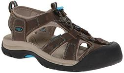 KEEN Women's Venice Sandal,Dark Earth/Caribbean Sea,9.5 M US