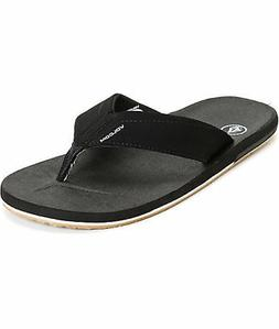 VOLCOM VICTOR BLACK/GUM SANDALS Mens  MSRP $30-  NEW!!