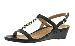 Vionic Orhaheel PORT CALI Leather Open Toe Ankle Strap Sanda