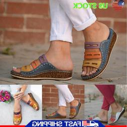Women Chic Sandals Ladies Summer Casual Platform Wedge Heel